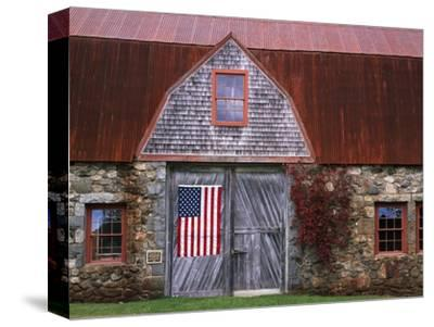 Flag Hanging on Barn Door-Owaki - Kulla-Stretched Canvas Print