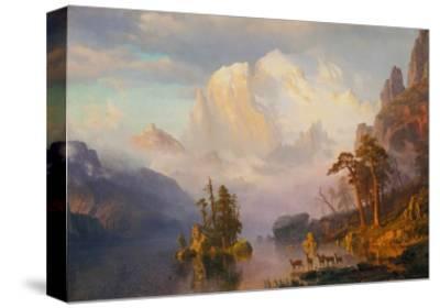 Rocky Mountains-Albert Bierstadt-Stretched Canvas Print