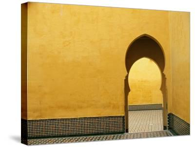 Doorway at Mausoleum of Moulay Ismail-Paul Souders-Stretched Canvas Print