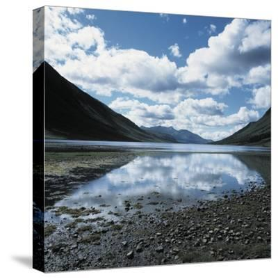 Clouds Reflected in Loch Etive--Stretched Canvas Print