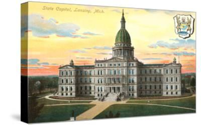 State Capitol, Lansing, Michigan--Stretched Canvas Print
