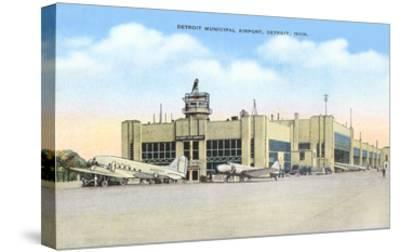 Municipal Airport, Detroit, Michigan--Stretched Canvas Print