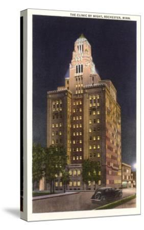 Night, Mayo Clinic, Rochester, Minnesota--Stretched Canvas Print