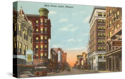 Main Street, Joplin, Missouri--Stretched Canvas Print
