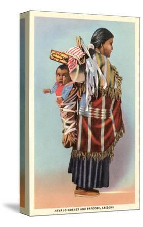 Navajo Mother and Papoose--Stretched Canvas Print