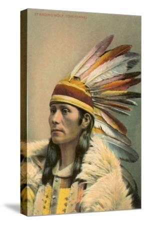 Standing Wolf, Cheyenne Indian--Stretched Canvas Print