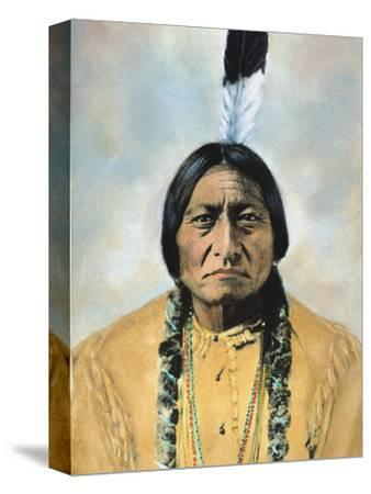 Sitting Bull (1834-1890)-D^ F^ Barry-Stretched Canvas Print