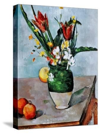 The Vase of Tulips, c. 1890-Paul C?zanne-Stretched Canvas Print