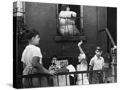 Streetside Games, 1938-Walker Evans-Stretched Canvas Print