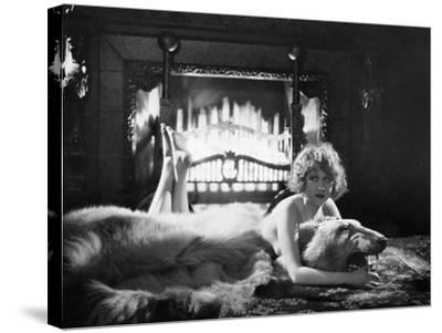 Silent Film Still: Woman--Stretched Canvas Print