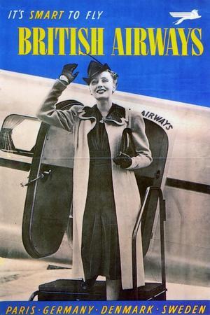 British Airways, 1938--Stretched Canvas Print