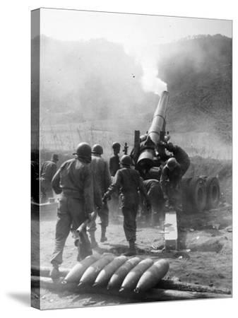Korean War: Artillery--Stretched Canvas Print