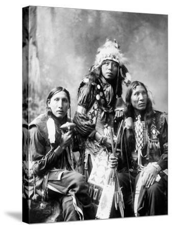 Young Sioux Men, 1899--Stretched Canvas Print