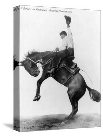 Wyoming: Cowboy, C1911--Stretched Canvas Print