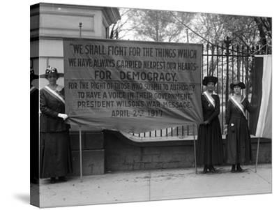 White House: Suffragettes--Stretched Canvas Print