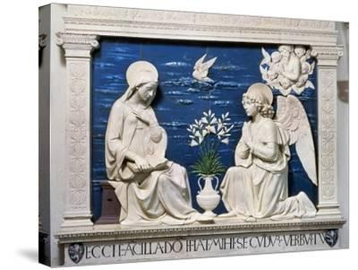 Della Robbia: Annunciation-Andrea Della Robbia-Stretched Canvas Print