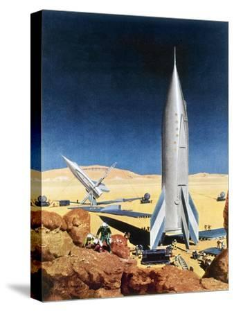 Mars Mission, 1950S-Chesley Bonestell-Stretched Canvas Print