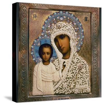 Russian Icon: Mary-Aleksandra Makhalova-Stretched Canvas Print
