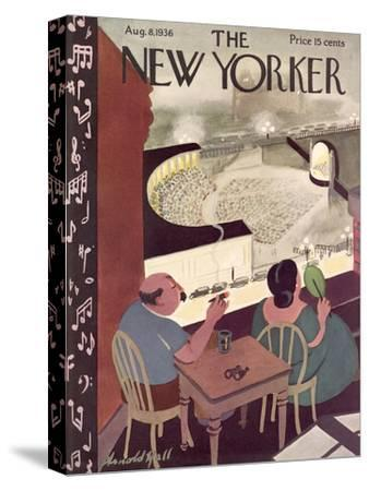 The New Yorker Cover - August 8, 1936-Arnold Hall-Stretched Canvas Print