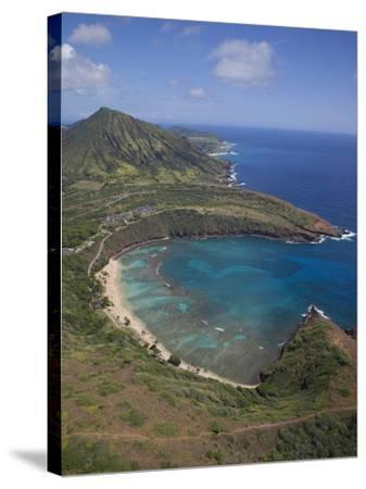 Hanauma Bay, Oahu, Hawaii-Douglas Peebles-Stretched Canvas Print