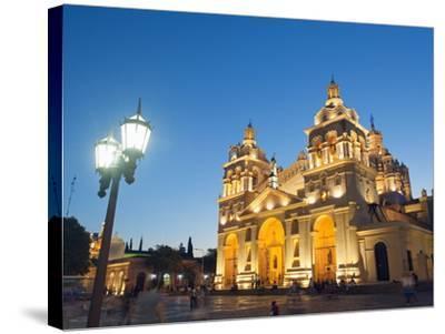 Cordoba Cathedral at Night, Cordoba, Argentina, South America-Christian Kober-Stretched Canvas Print