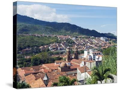 View Over San Gil, Colombia, South America-Christian Kober-Stretched Canvas Print