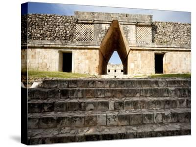 Governor's Palace in the Mayan Ruins of Uxmal, UNESCO World Heritage Site, Yucatan, Mexico-Balan Madhavan-Stretched Canvas Print