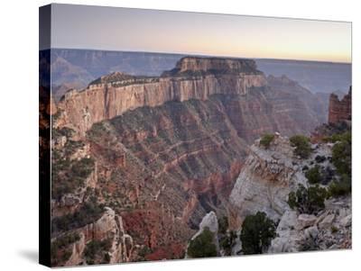 View From Cape Royal at Dusk, North Rim, Grand Canyon National Park, Arizona, USA-James Hager-Stretched Canvas Print