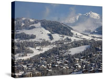 Megeve Village in Winter, Megeve, Haute Savoie, French Alps, France, Europe--Stretched Canvas Print