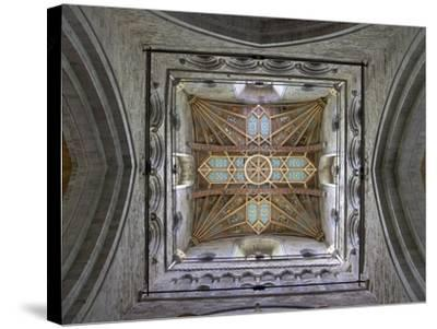 Tower Lantern Ceiling, St. Davids Cathedral, Pembrokeshire National Park, Wales-Peter Barritt-Stretched Canvas Print