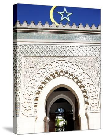 Main Door of the Paris Great Mosque, Paris, France, Europe--Stretched Canvas Print