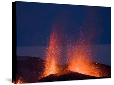 Fountaining Lava From Eyjafjallajokull Volcano, Iceland, Polar Regions--Stretched Canvas Print