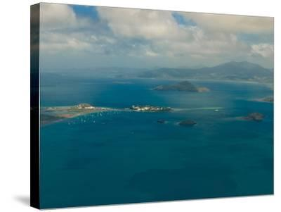 Aerial View of the Island of Grand Terre, French Departmental Collectivity of Mayotte, Africa--Stretched Canvas Print