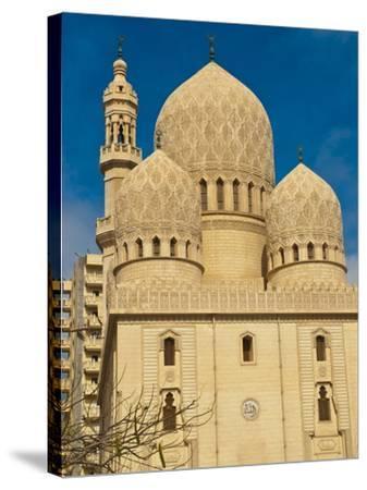 Abu El-Abbas Mosque, Alexandria, Egypt, North Africa, Africa--Stretched Canvas Print