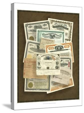Stock Certificate Collection--Stretched Canvas Print