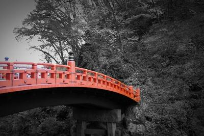 Nikko Red Bridge-NaxArt-Stretched Canvas Print