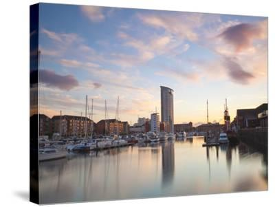 Swansea Marina, West Glamorgan, South Wales, Wales, United Kingdom, Europe-Billy Stock-Stretched Canvas Print
