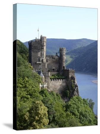 Rheinstein Castle Near Trechtingshausen, Rhine Valley, Rhineland-Palatinate, Germany, Europe-Hans Peter Merten-Stretched Canvas Print