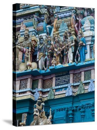 Hindu Temple Exterior, Colombo, Sri Lanka, Asia-Kim Walker-Stretched Canvas Print