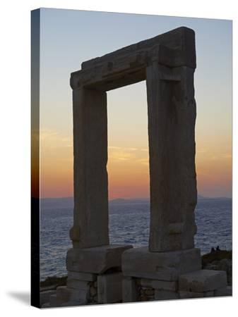 Gateway, Temple of Apollo, at the Archaeological Site, Naxos, Cyclades Islands, Greek Islands, Aege-Tuul-Stretched Canvas Print