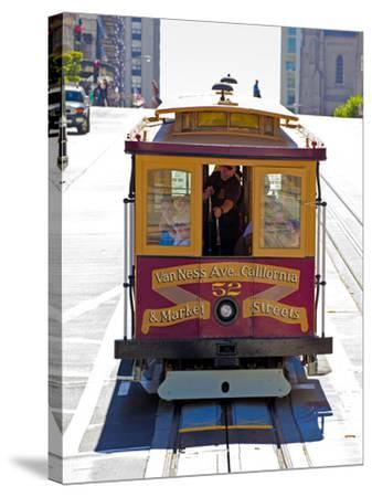 Cable Car Crossing California Street, San Francisco, California, United States of America, North Am-Gavin Hellier-Stretched Canvas Print