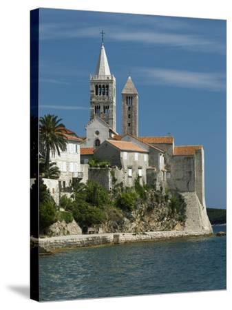 View of Old Town and Campaniles, Rab Town, Rab Island, Kvarner Gulf, Croatia, Adriatic, Europe-Stuart Black-Stretched Canvas Print