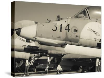 Graveyard of Us-Built A-4 Fighters, Israeli Air Force Museum, Be-Er Sheva, the Negev, Israel-Walter Bibikow-Stretched Canvas Print