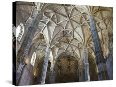 15th Century Interior of the Church of Santa Maria, Lisbon, Portugal-John Loggins-Stretched Canvas Print