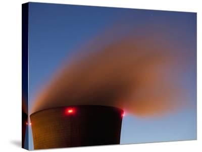 Steam from Cooling Tower at Three Mile Island Nuclear Power Plant, Middletown, Pennsylvania, Usa-Paul Souders-Stretched Canvas Print