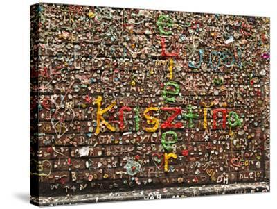 Gum Wall at Pike's Place Market in Seattle, Washington, Usa-Michele Westmorland-Stretched Canvas Print