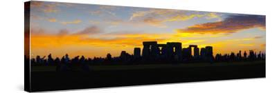 UK, England, Wiltshire, Stonehenge, Summer Solstice Celebrations-Alan Copson-Stretched Canvas Print