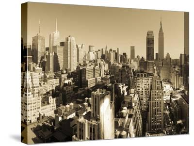USA, New York, Manhattan, Midtown Skyline Including Empire State Building-Alan Copson-Stretched Canvas Print