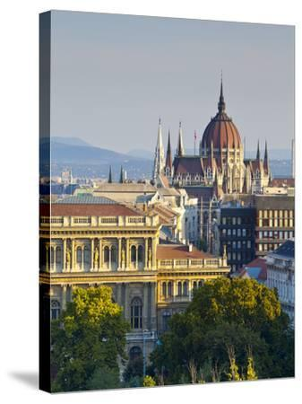 Hungarian Parliament Building, Budapest, Hungary-Doug Pearson-Stretched Canvas Print
