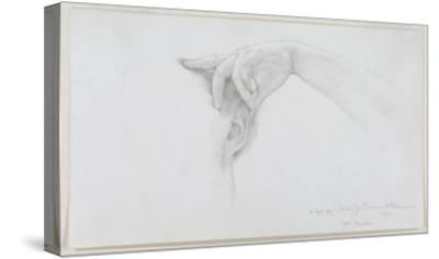 Study for 'Thermaie Antoniniane', 1899 (Pencil on Paper)-Sir Lawrence Alma-Tadema-Stretched Canvas Print